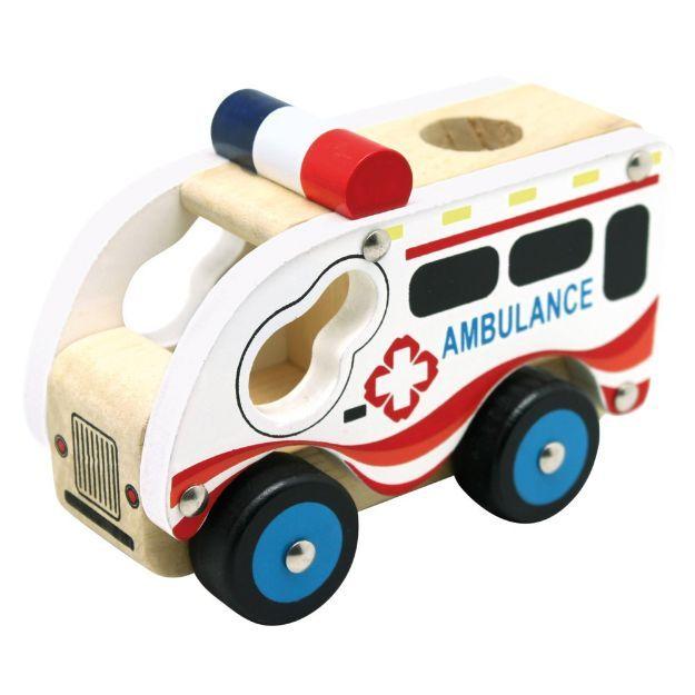 Poza cu Mașina ambulanței, din lemn